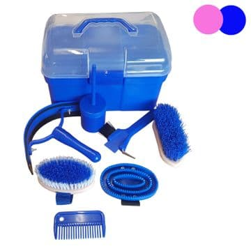 HORSE GROOMING BOX KIT - EQUESTRIAN pony - PINK or BLUE kits tack room